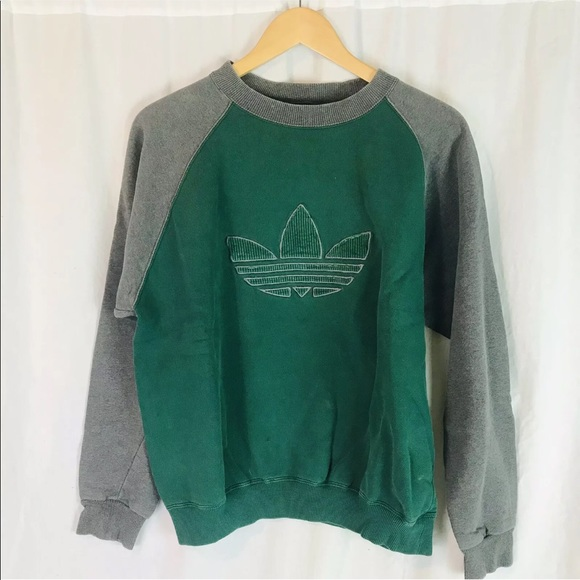 VINTAGE ADIDAS ORIGINAL Trefoil Crew Neck Sweatshirt Sz XL Red, Black, White